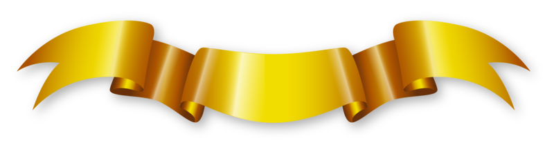 Golden ribbon png. Download free transparent image