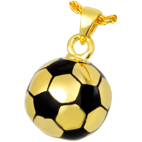 Golden soccer ball png. Silver or gold cremation