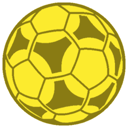 Golden soccer ball png. Image icon goal sgfa