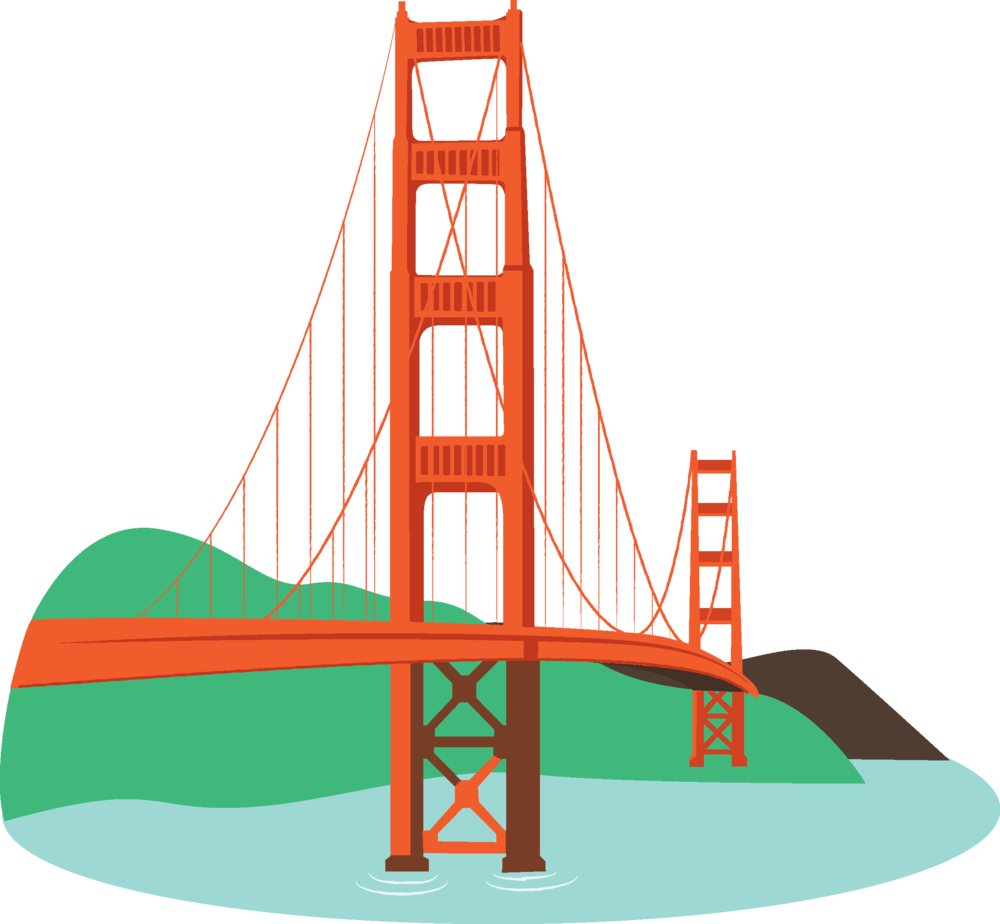 Golden state bridge png. Collection of free