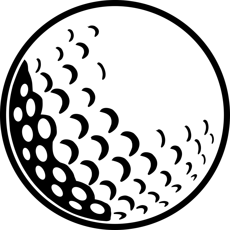 Golfball vector black and white. Golf ball clipart school