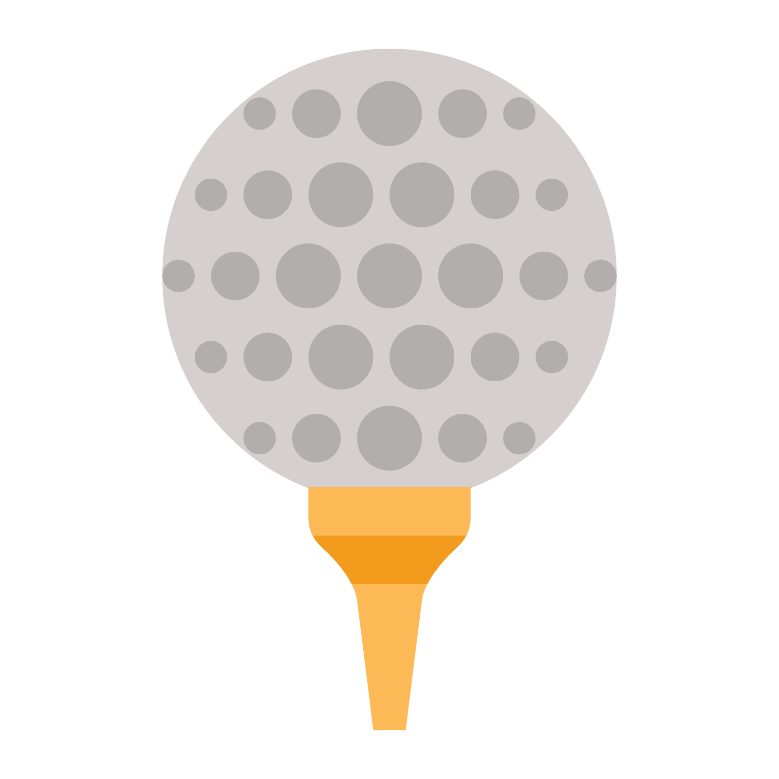 Golf ball on tee png. Icono descarga gratuita y