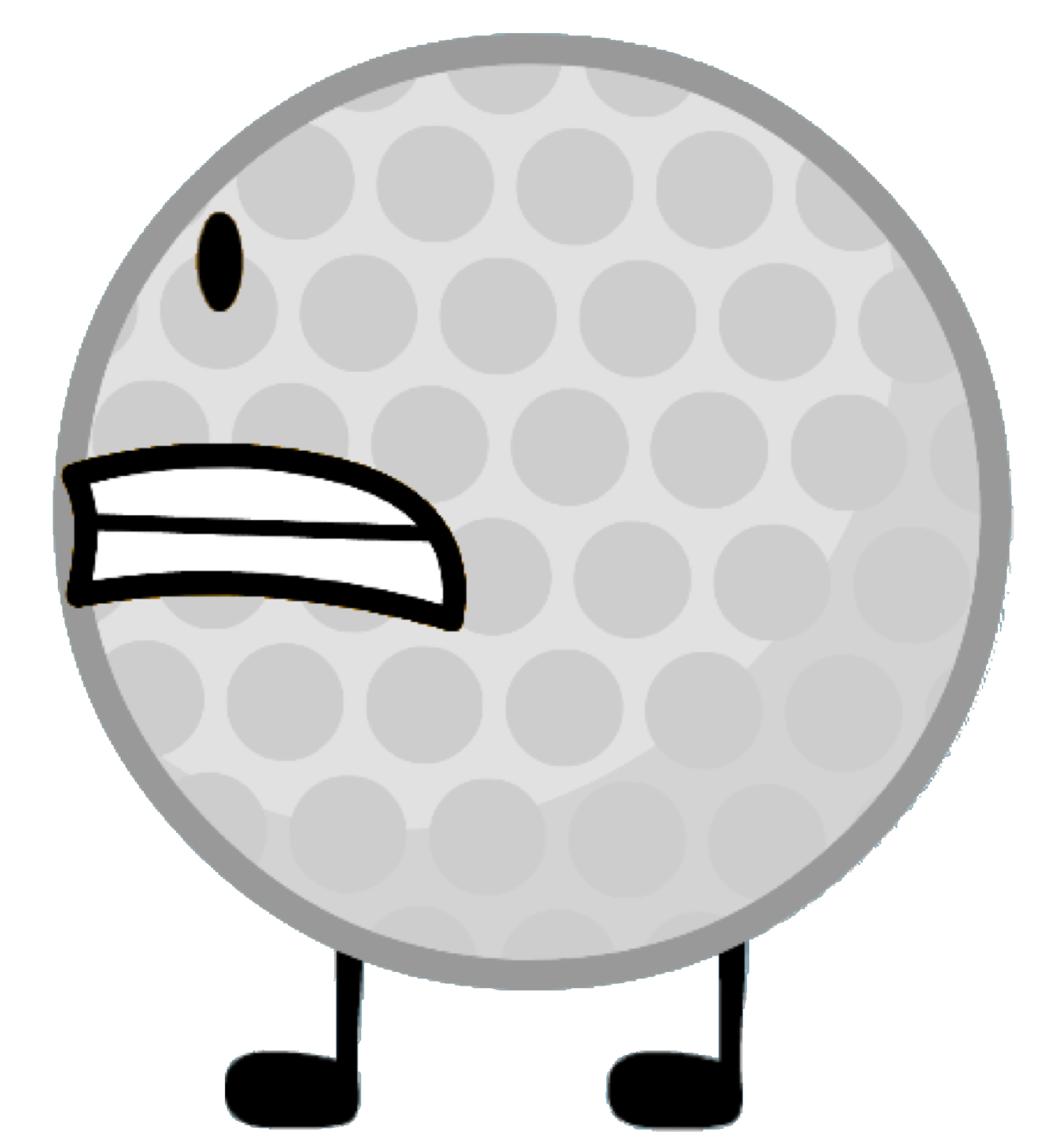 Golf ball png image. Battle for dream island