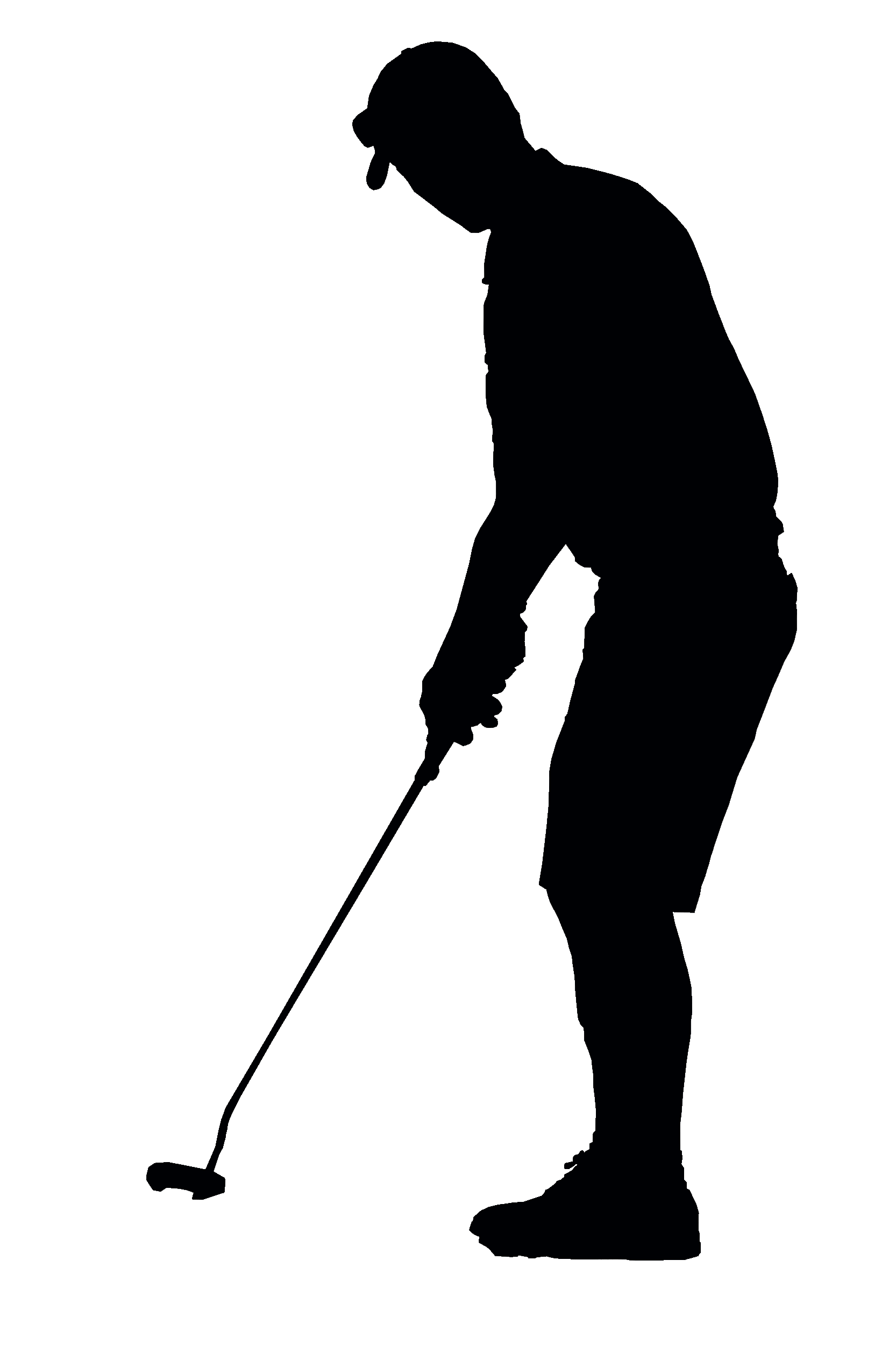 Golfer transparent. Black silhouette png stickpng