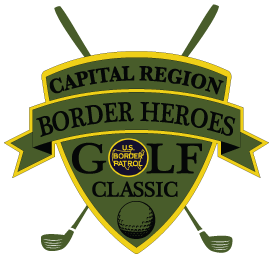 Golf clip border. Th annual heroes