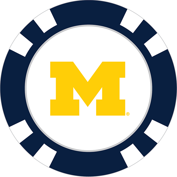 Golf clip team. Michigan wolverines poker chip