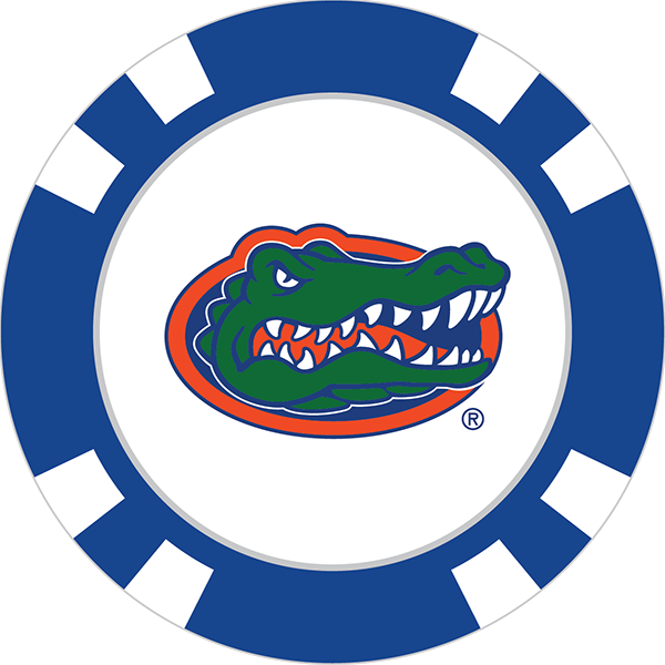 Golf clip team. Florida gators poker chip