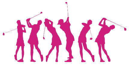 Golf clip women's.  black and white vector library library