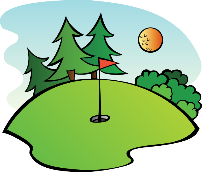 golfer drawing animated