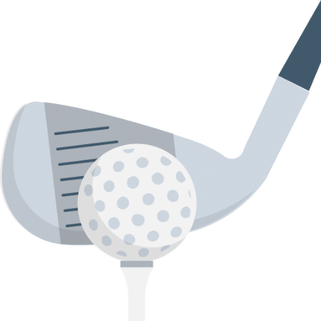 Golf club with ball png