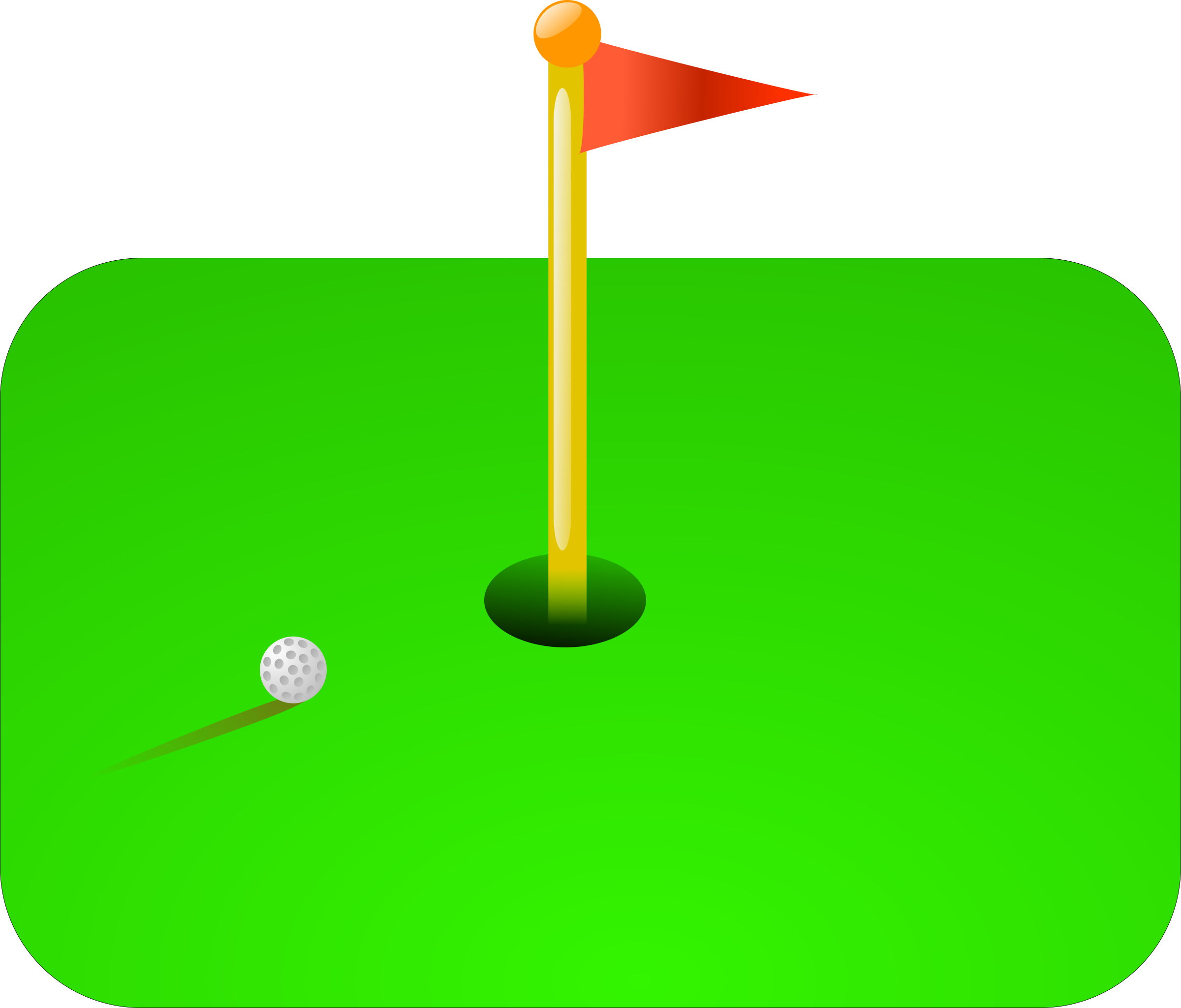 club vector golf ball