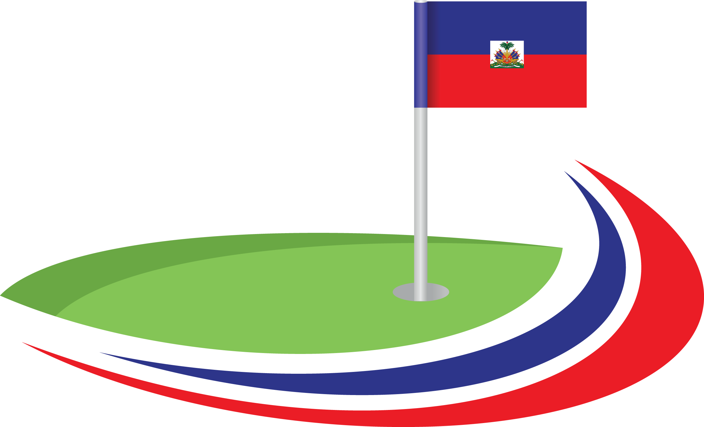Golf green png. Holes for haiti