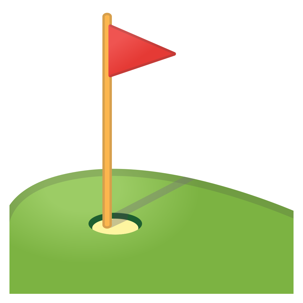 Golf hole flag png transparent. In icon noto emoji