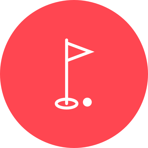 Golf icons png. Red icon free of