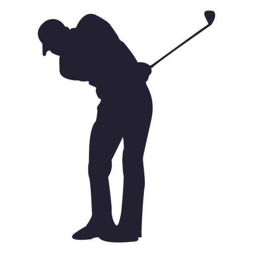 Golf png. Player silhouette transparent svg