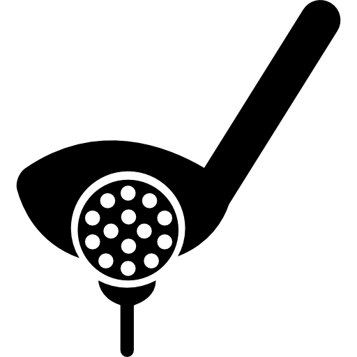 Golf icons png. Putter ball and tee