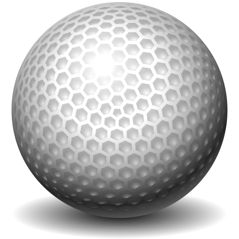 Golfball vector black and white. Free clipart golf ball