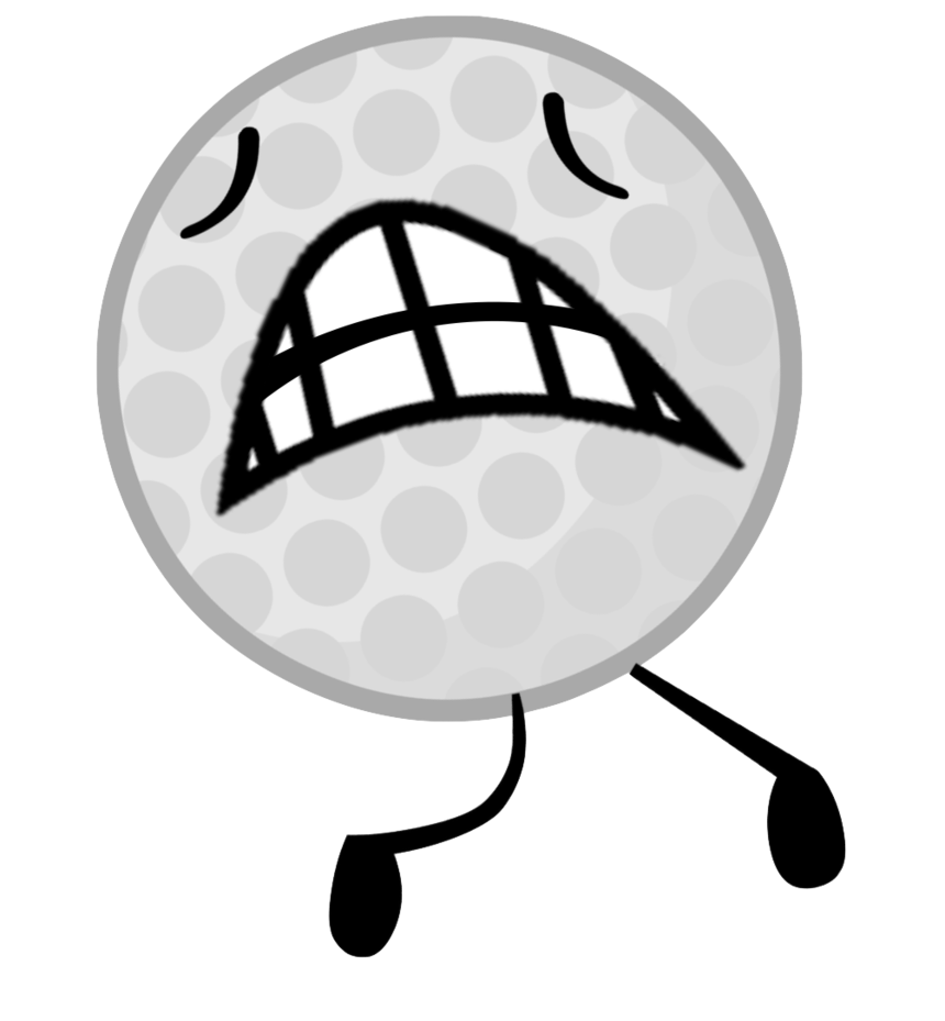 Golfball vector art. Bfb golf ball intro