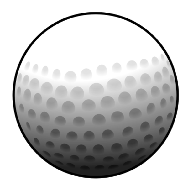 Golfball vector art. Golf ball clip png