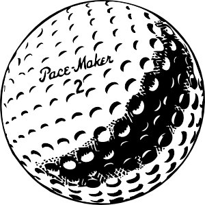 Golfball vector cartoon. Clip art at clker