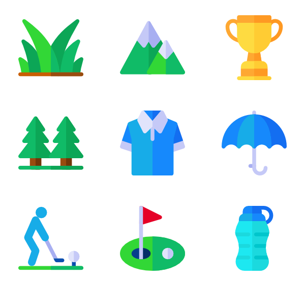 Golfball vector icon. Golf ball icons free