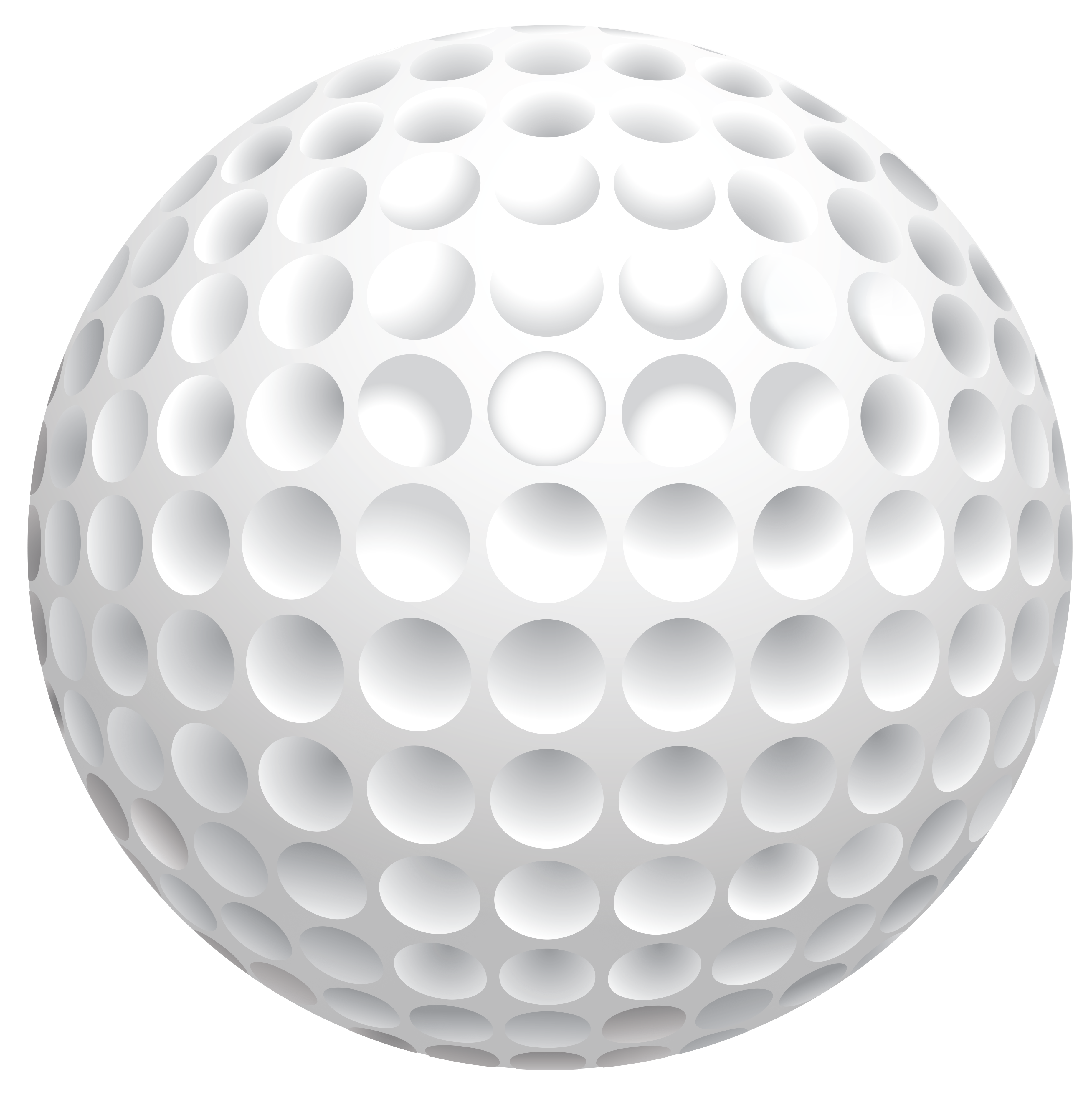 Golfball vector sphere. Golf ball club clip