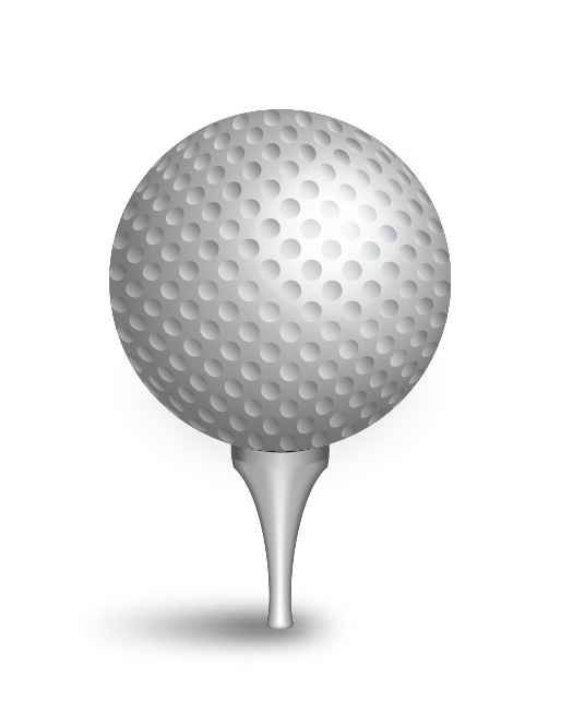 Golfball vector sphere. Golf ball academy of