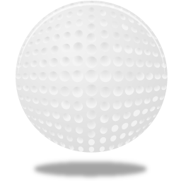 Golfball vector sport ball. Golf icon pretty office