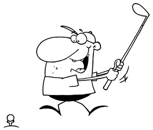 Golfer clipart drawing. Golf player at getdrawings