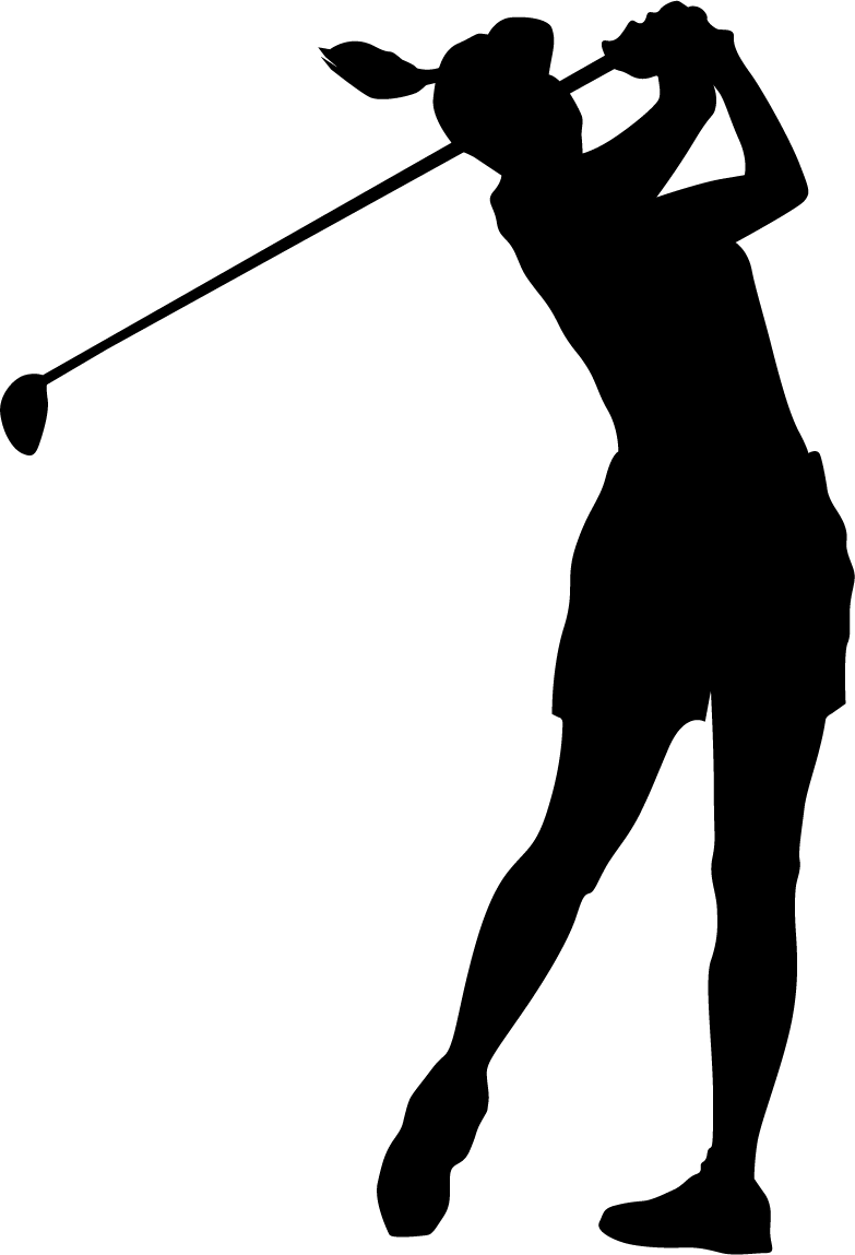 Golfer clipart golf ball club. Download free png female