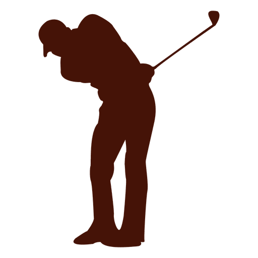 Club vector golf ball. Player silhouette transparent png