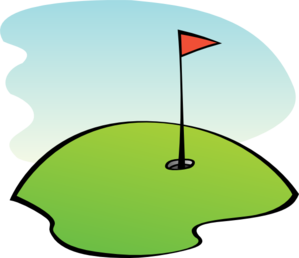 Golfer clipart vector. Golf green clip art