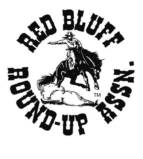 Golfer drawing rodeo. Red bluff round up