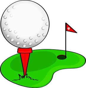 Golfing clipart. Clip art illustration of