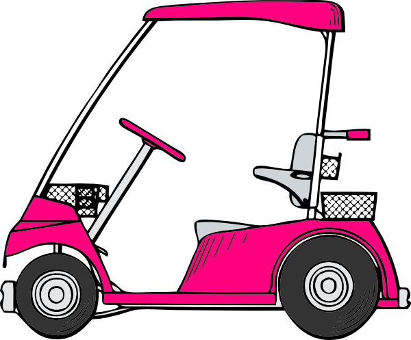 Pink golf clip art. Cart clipart bullock cart black and white stock