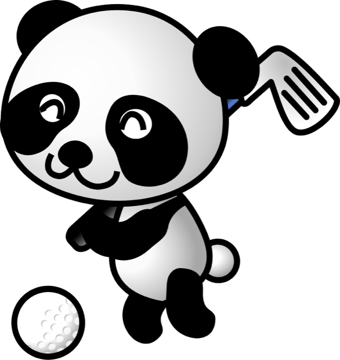 Free golf and animations. Golfing clipart cute jpg black and white download