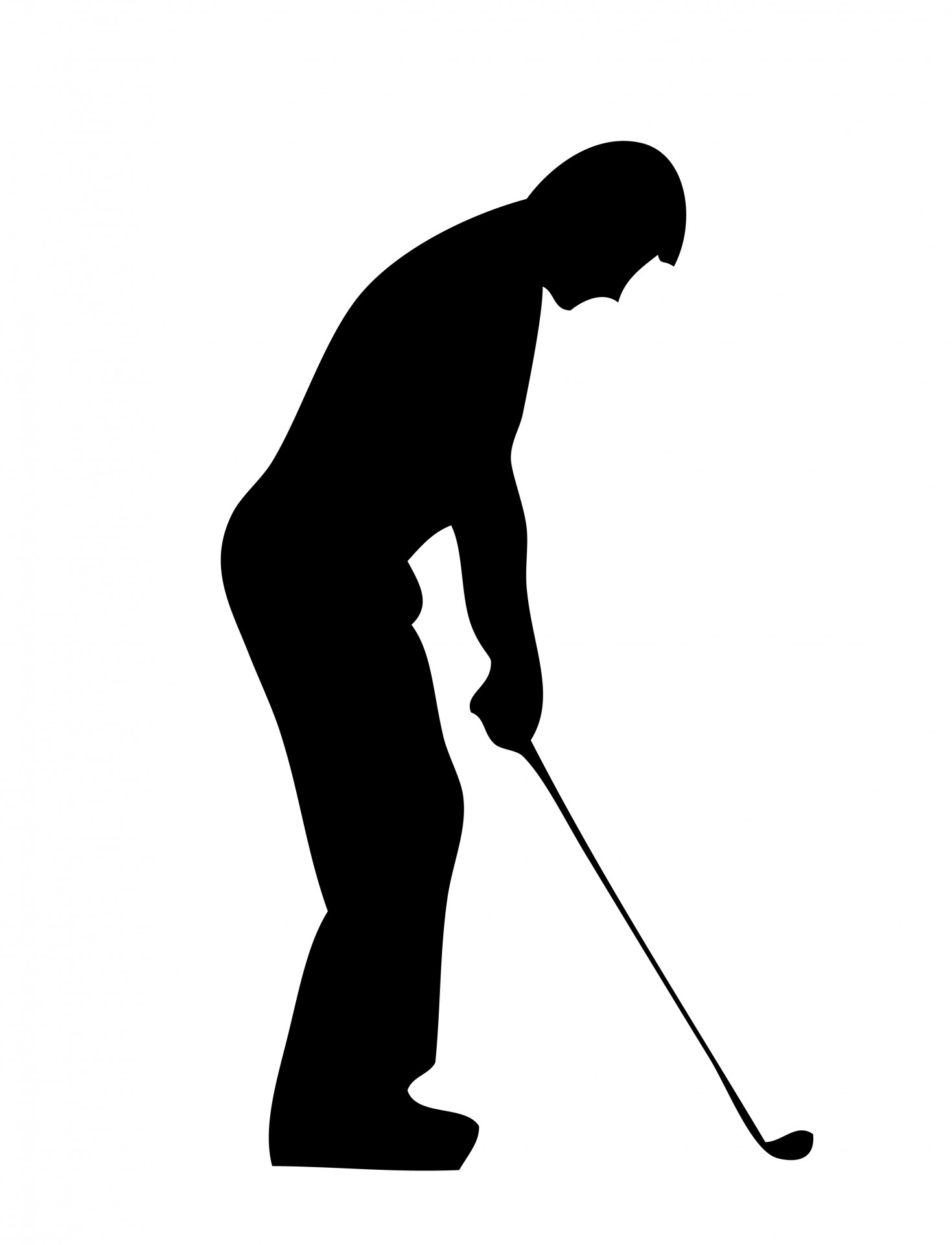 Golfing clipart. Golf player silhouette free