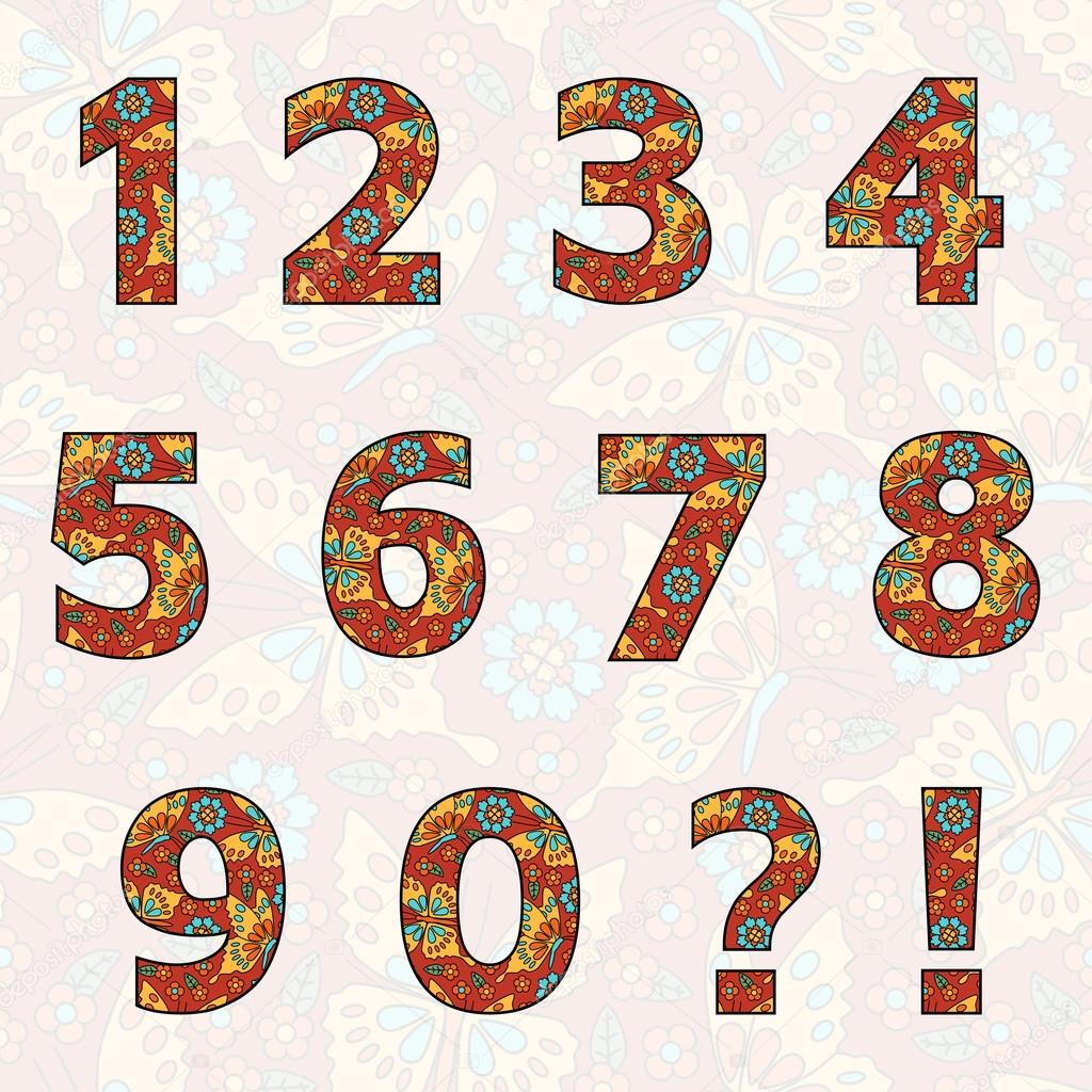 Good clipart number one. Set of numbers with