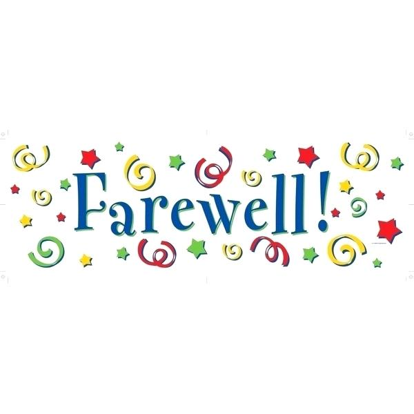 Goodbye clipart banner. Gaming template glitch farewell