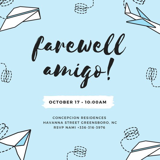 Goodbye clipart farewell lunch. Customize party invitation templates