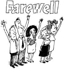 Goodbye clipart farewell lunch. And good luck printable