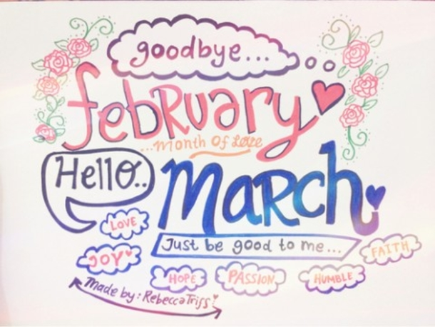 Goodbye clipart february. Welcome march quotes images
