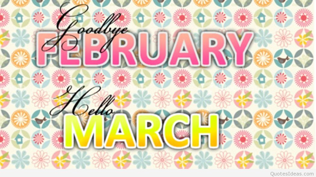 Goodbye clipart february. Hello march picture
