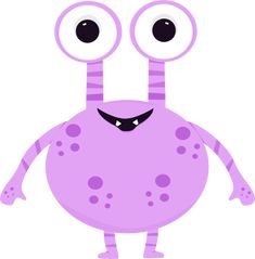 Aliens clipart real purple. Free cute monster clip