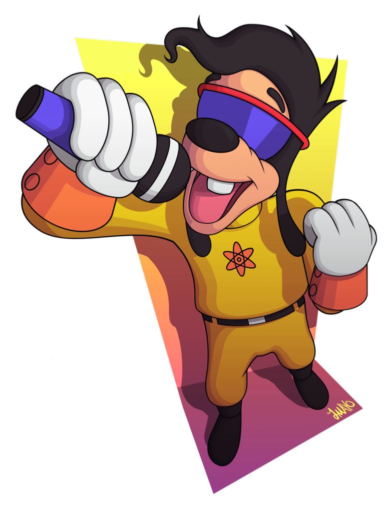 Goofy movie png. A stand out by