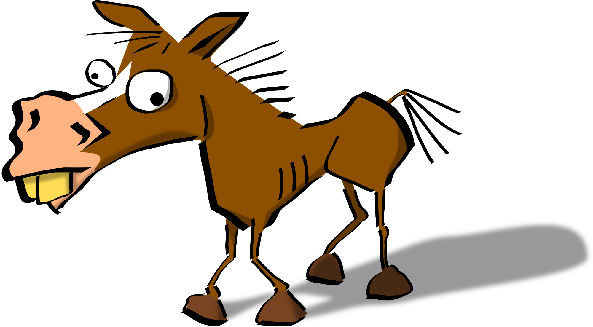 Goofy vector clipart. Funny horse at getdrawings