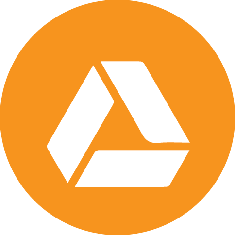 Google drive icon png. Orange social icons by