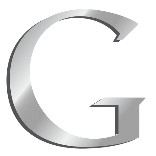 Google g logo png. Letter silver icon transparent