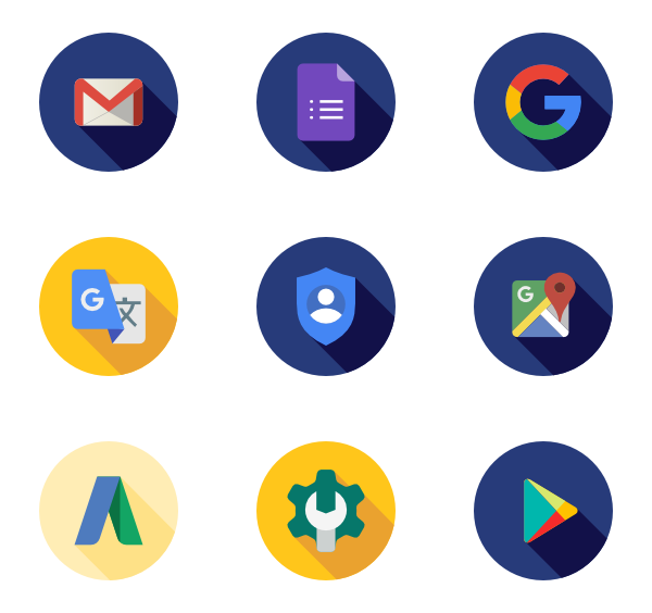 Google icons png. Icon packs vector