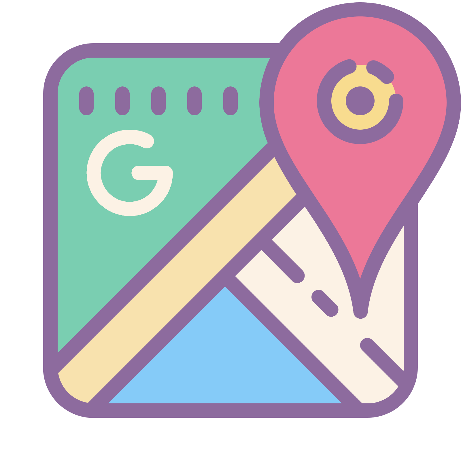 Prset vector simple. Google maps icon free